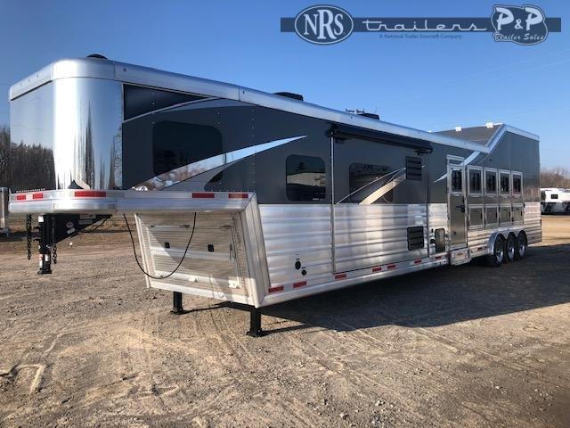2021 Lakota Bighorn BH8516TSR 5 Horse Slant Load Trailer 16 FT LQ w/ Slideouts