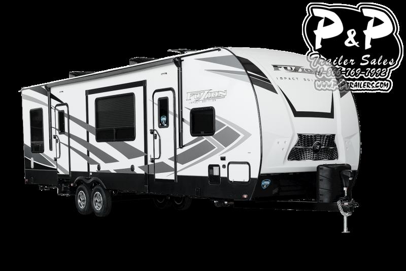 """2021 Keystone RV Impact 330 37' 6"""" Toy Hauler RV"""