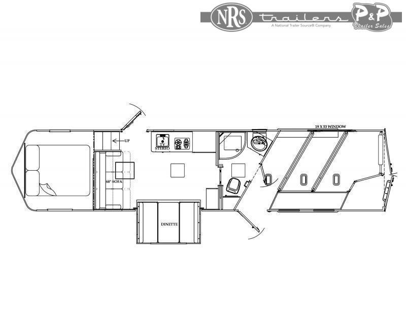 2022 Bison Trailers Desperado DS8313B.S 3 Horse Slant Load Trailer 13 FT LQ With Slides