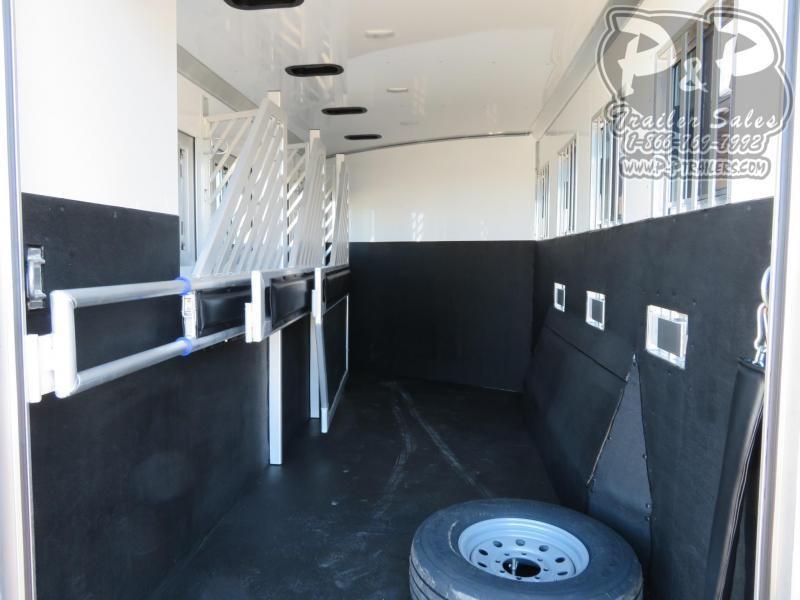 2021 Bloomer 84TRN 4 Horse Super Tack Trainer 4 Horse Slant Load Trailer