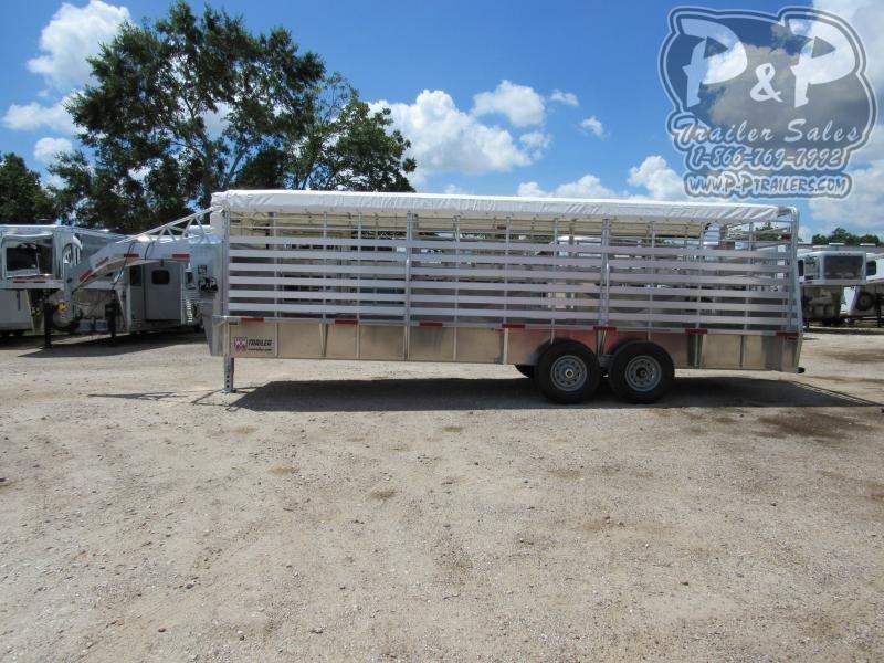 2021 W-W Trailer 24x6.8 Livestock Trailer