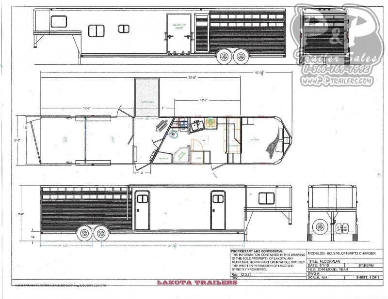 2021 Lakota Charger LE81611NS Livestock Trailer LQ