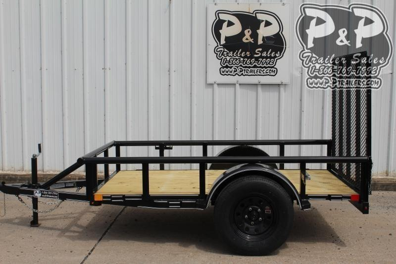 "2021 P and P PPSA08X60LDRGPT Light Duty Rear Gate 60"" x 8 ' Utility Trailer"