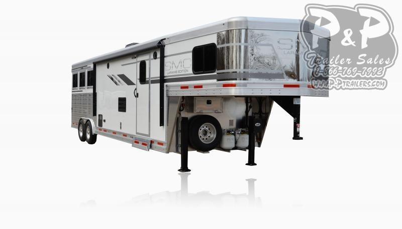 2021 SMC Horse Trailers SL8X12SR LARAMIE 3 Horse Slant Load Trailer 12 FT LQ With Slides