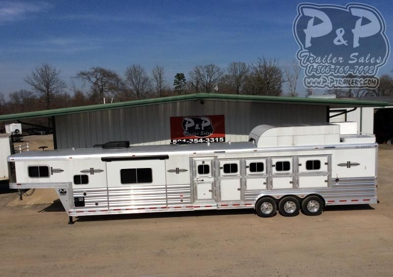 2021 Platinum Coach 8515PCOL 5 Horse Slant Load Trailer 15 FT LQ With Slides w/ Ramps