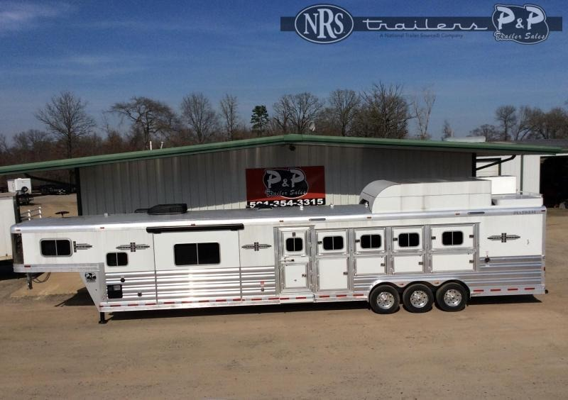 2021 Platinum Coach 8515PCOL 5 Horse Slant Load Trailer 15 FT LQ w/ Slideouts