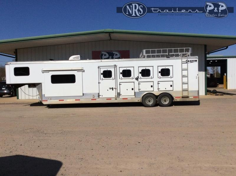 2015 Shadow Trailers 8410 4 Horse Slant Load Trailer 10 FT LQ With Slides w/ Ramps
