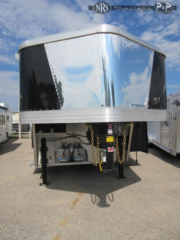 2021 Bison Trailers 8416LDSSRSL 4 Horse Slant Load Trailer 16 FT LQ w/ Slideouts