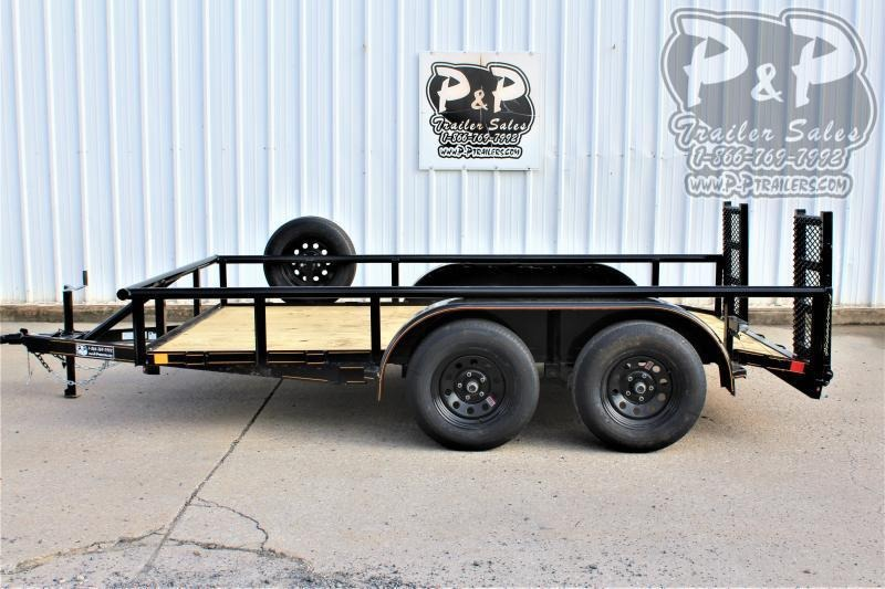 "2021 P and P PPTA12x77GDF 77"" x 12 ' Utility Trailer"