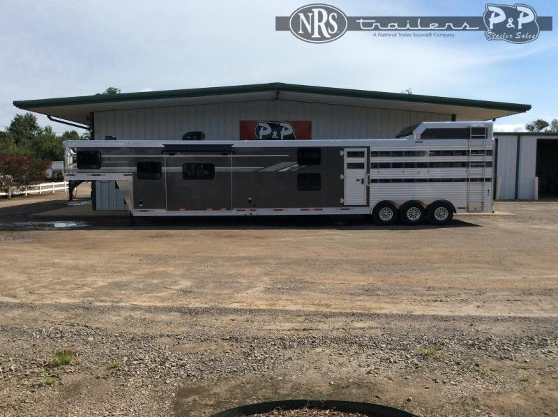 2021 SMC Horse Trailers SLE81613SSRT BB 16 ' Livestock Trailer w/13' LQ Bunk Beds in MT