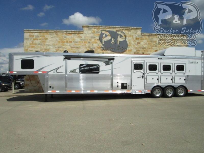 2020 Lakota Bighorn B8417 Side Load 4 Horse Slant Load Trailer 17 FT LQ With Slides w/ Ramps