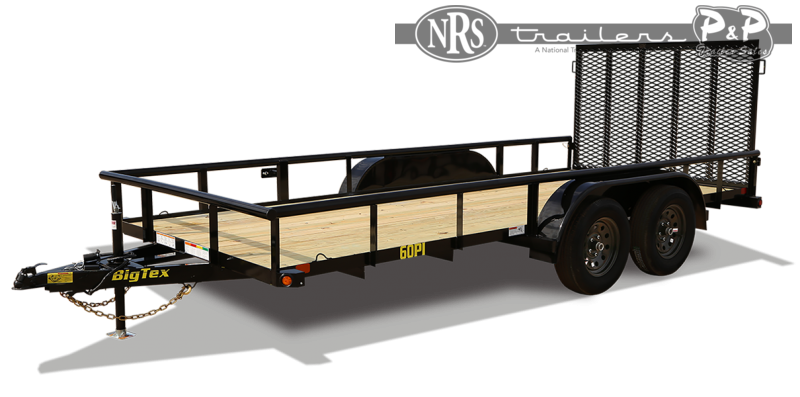 2021 Big Tex Trailers 60PI 12BK4RG 12 Utility Trailer