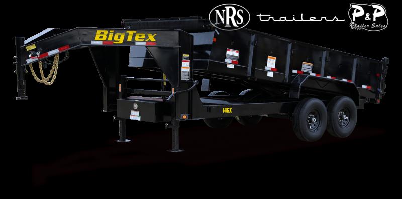 2021 Big Tex Trailers 14GX-14BK6SIRPD 14 ' Dump Trailer