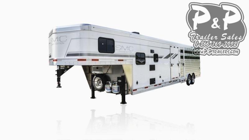 2021 SMC Horse Trailers SL8X9SR LARAMIE 9FT LQ Livestock Trailer LQ