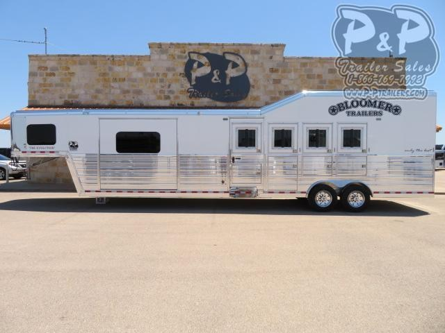 2021 Bloomer PC Load Outlaw Conversions 4 Horse Slant Load Trailer 13.17 FT LQ With Slides w/ Ramps