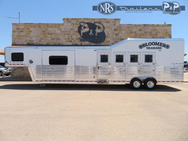 2021 Bloomer PC Load Outlaw Conversions 4 Horse Slant Load Trailer 13.17 FT LQ w/ Slideouts