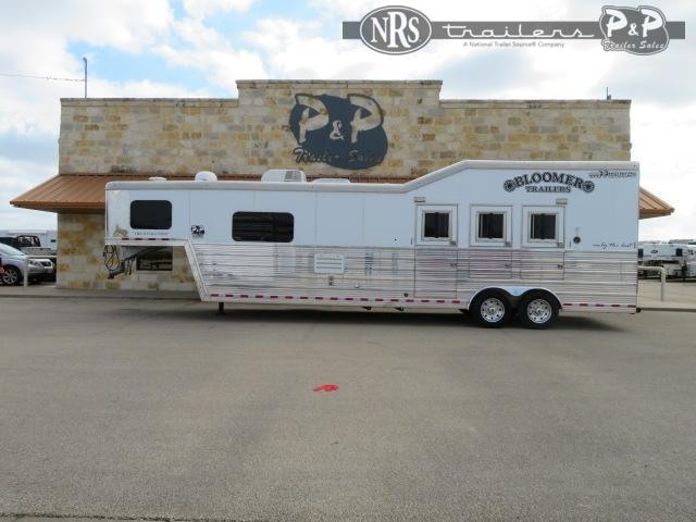 "2014 Bloomer 3H 3 Horse Slant Load Trailer 13' 6"" FT LQ"
