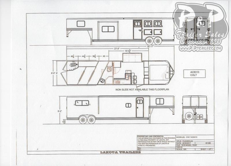 2021 Lakota AC8313 3 Horse Slant Load Trailer 13 FT LQ With Slides