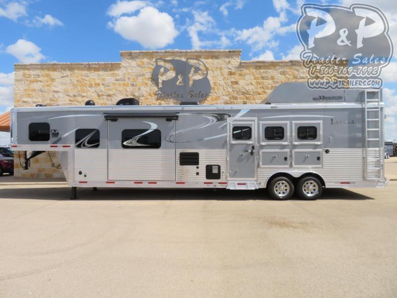 2020 Lakota Bighorn BH8316SRBRSL 3 Horse Slant Load Trailer 16 FT LQ With Slides w/ Ramps