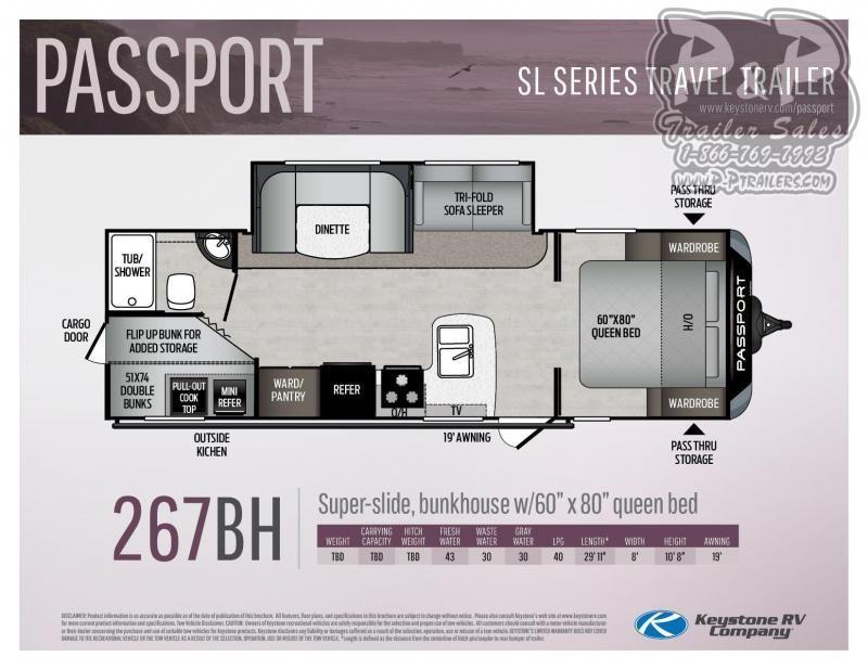"2020 Springdale Passport 267BH 29' 11"" ft Travel Trailer RV"