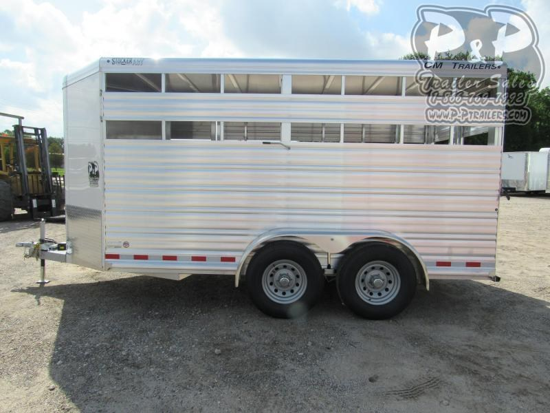 2021 CM Stocker AL-V 16 x 6.8 x 7 Livestock Trailer