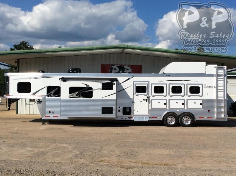 2021 Lakota Bighorn BH8416SRB 4 Horse Slant Load Trailer 16 FT LQ With Slides