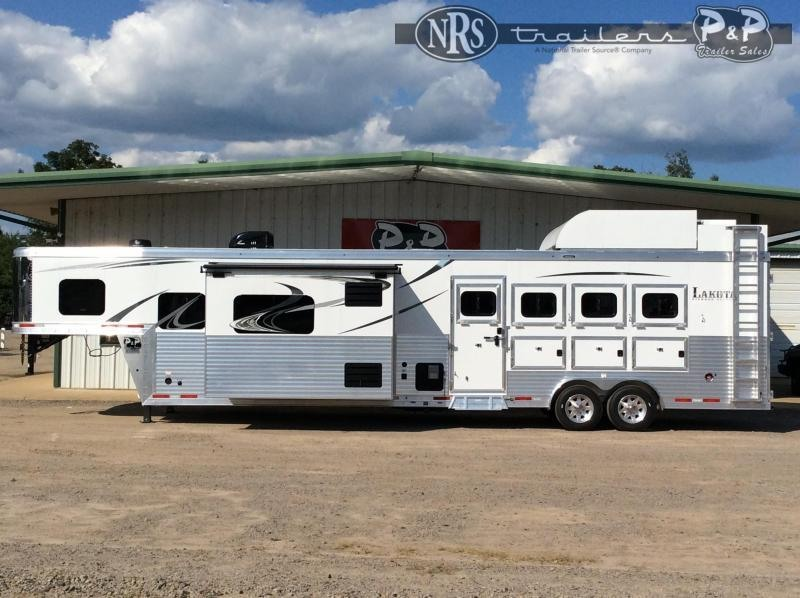 2021 Lakota Bighorn BH8416SRB 4 Horse Slant Load Trailer 16 FT LQ w/ Slideouts