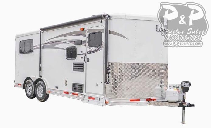 2020 Lakota Charger C8XHSLBP11SE Bumper Pull 3 Horse Slant Load Trailer 11 FT LQ