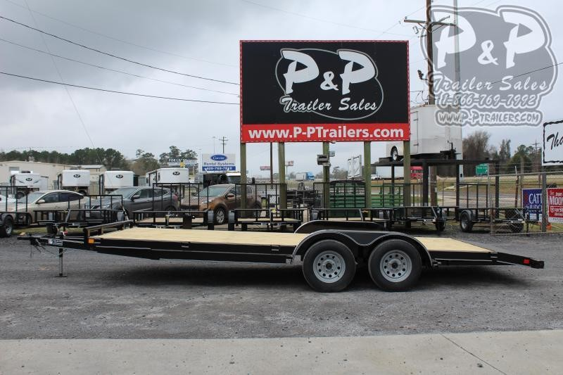 2020 P and P PPWFCH20X83GDSR Car Hauler Flatbed Trailer