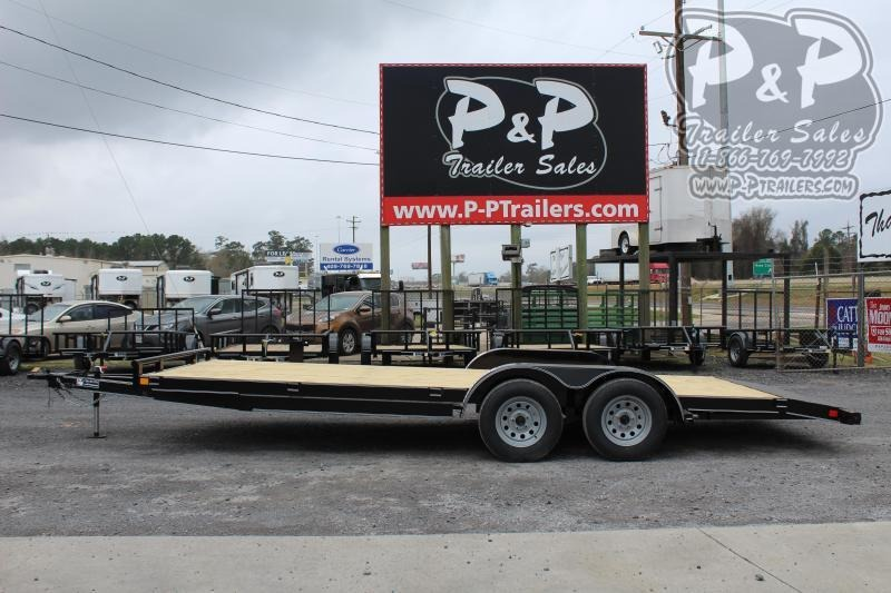"""2021 P and P PPWFCH20X83GDSR Car Hauler 240 """" Flatbed Trailer"""