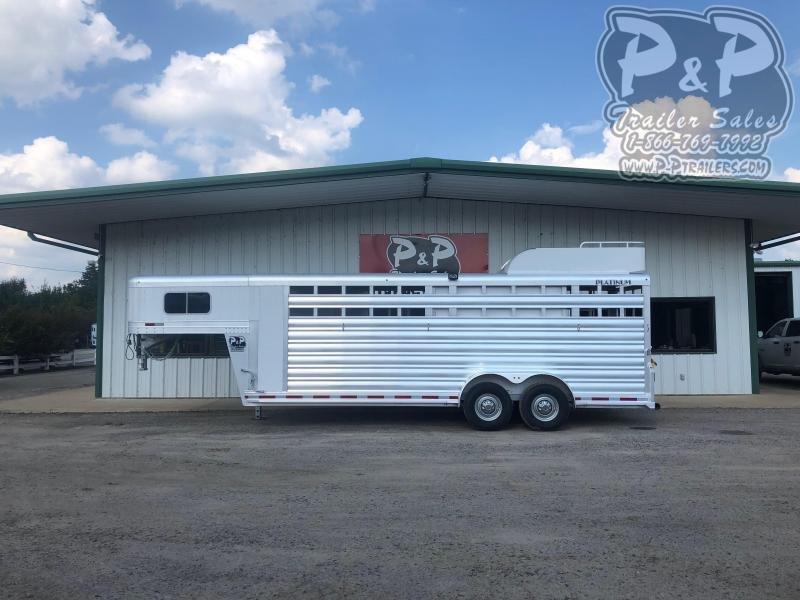 2021 Platinum Coach 7X22GNTR Livestock Trailer