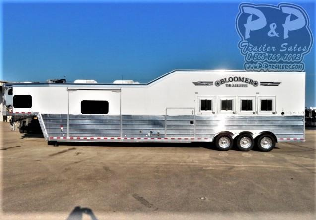 2020 Bloomer 8420OL 4 Horse Slant Load Trailer 20 FT LQ With Slides w/ Ramps