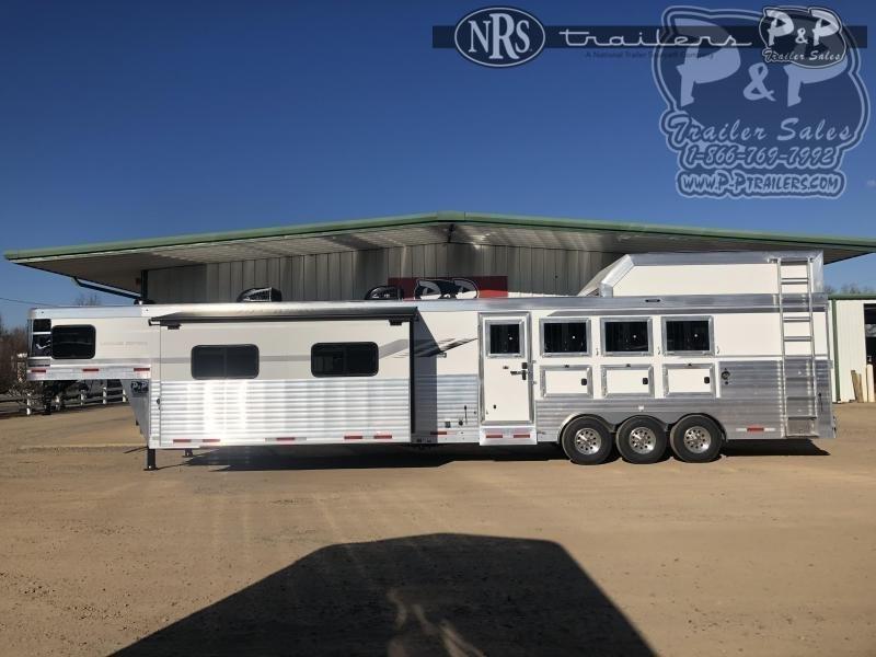 2021 SMC Horse Trailers SL8418SCEBT 4 Horse Slant Load Trailer 18 FT LQ w/ Slideouts