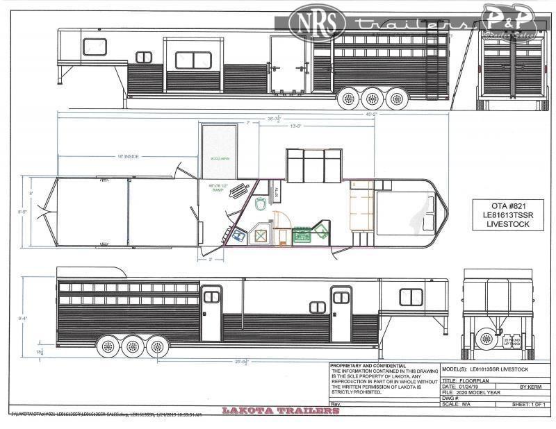 2022 Lakota LE81613TSR 36 ' Livestock Trailer LQ
