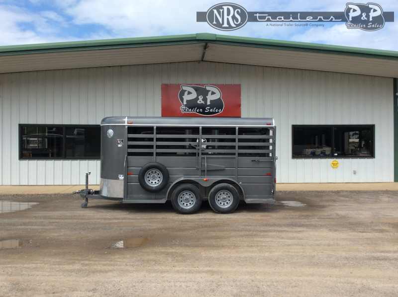 2021 W-W Trailer 14X5 All Around 14 ' Livestock Trailer