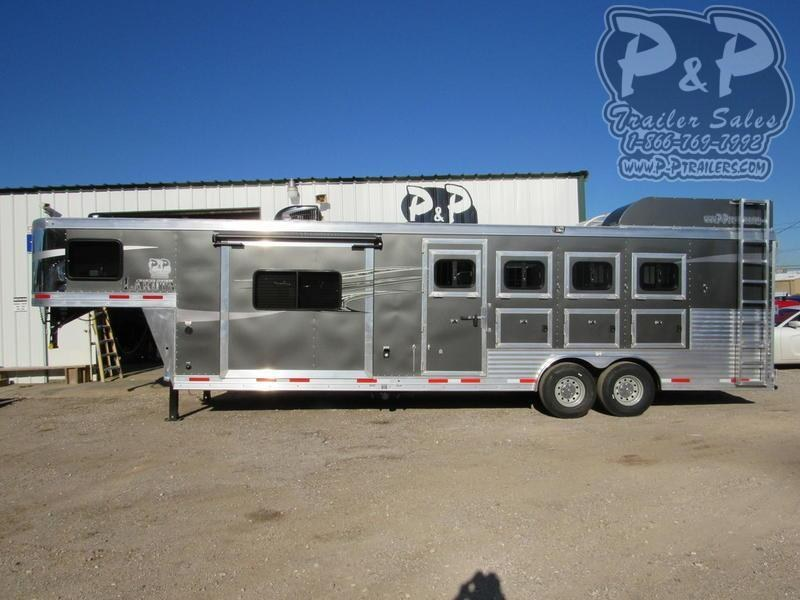2021 Lakota Charger C8411RK 4 Horse Slant Load Trailer 11 FT LQ With Slides