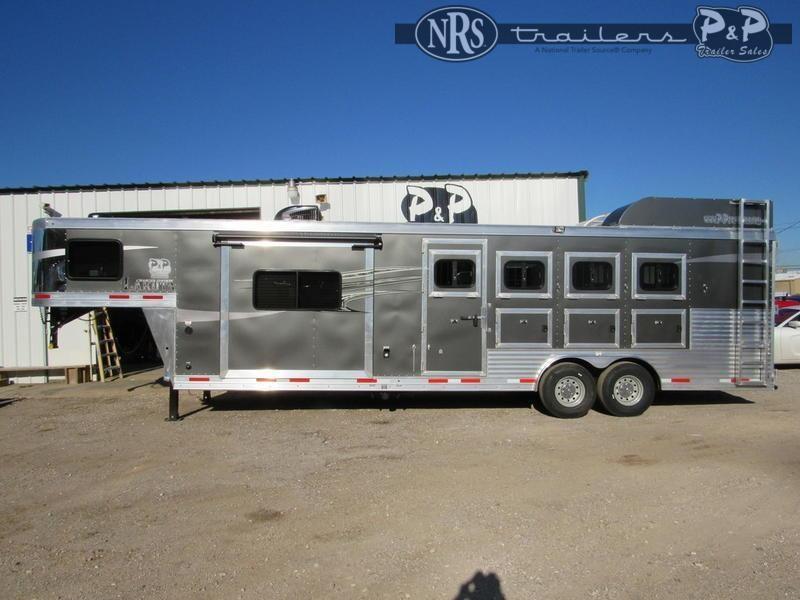 2021 Lakota Charger C8411RK 4 Horse Slant Load Trailer 11 FT LQ w/ Slideouts