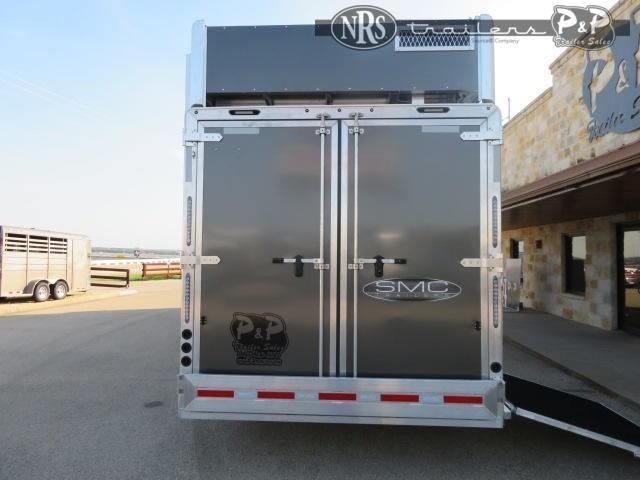 2022 SMC Horse Trailers SL8413SSRRSL 4 Horse Slant Load Trailer 13 FT LQ With Slides w/ Ramps