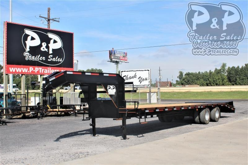 2021 P and P PPDT25 5X102 30 Flatbed Trailer