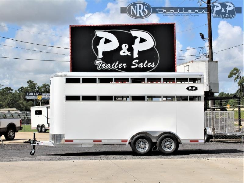 2022 P and P 60170STK-3SL-BP 3 Horse Slant Load Trailer