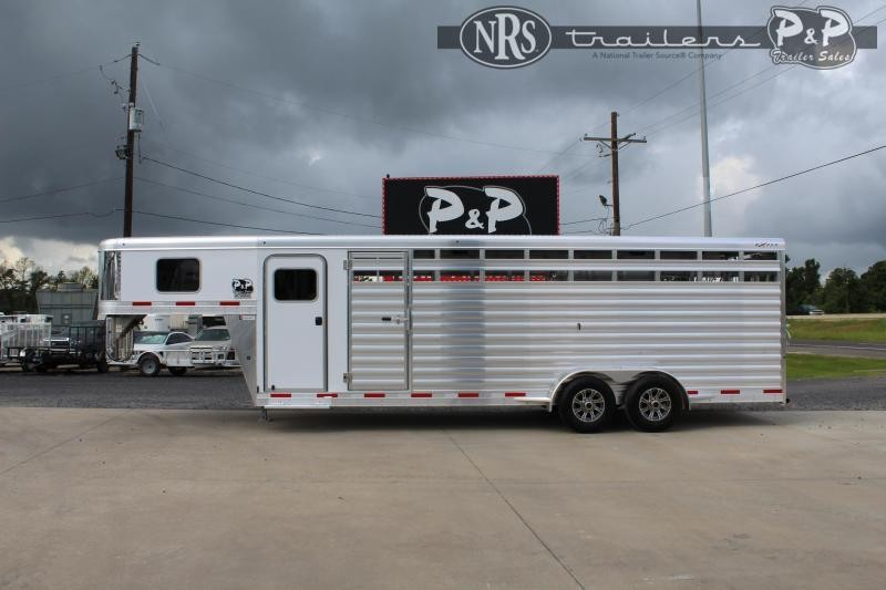 2022 Exiss Trailers Express 6824STC 24 ' Livestock Trailer