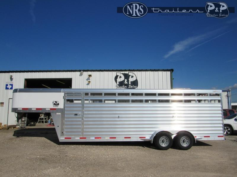 2022 Exiss Trailers Express 6824 24 ' Livestock Trailer