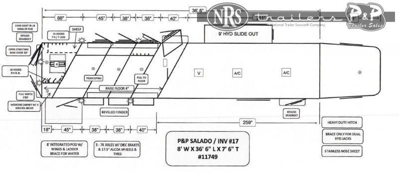 2022 Bloomer 8417FKOL 4 Horse Slant Load Trailer 17 FT LQ With Slides w/ Ramps