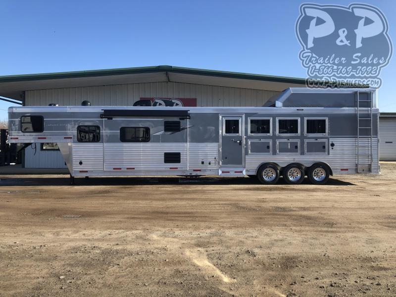 2020 SMC Horse Trailers SL8416SSRT 4 Horse Slant Load Trailer 16 FT LQ With Slides w/ Ramps