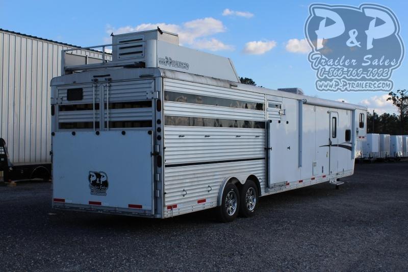 2015 Bison Trailers 8012MS 27 ' Livestock Trailer LQ