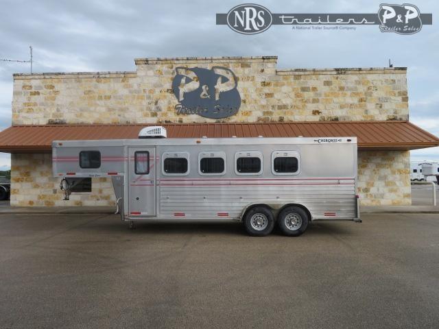 1998 Cherokee 4H 4 Horse Slant Load Trailer w/ Ramps