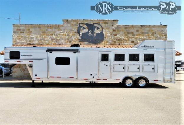2022 SMC Horse Trailers Patriot SP8415SSR 4 Horse Slant Load Trailer 15 FT LQ With Slides
