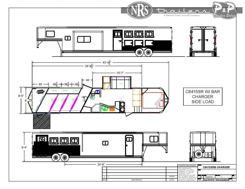 2022 Lakota C8415SRBRSL 4 Horse Slant Load Trailer 15 FT LQ With Slides w/ Ramps
