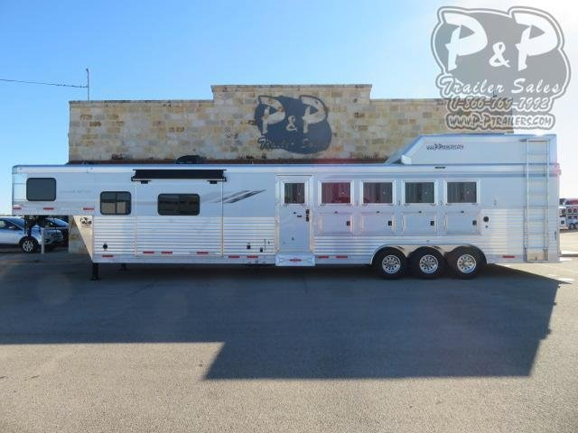2021 SMC Horse Trailers SL8513SSRTRSL 5 Horse Slant Load Trailer 13 FT LQ With Slides w/ Ramps