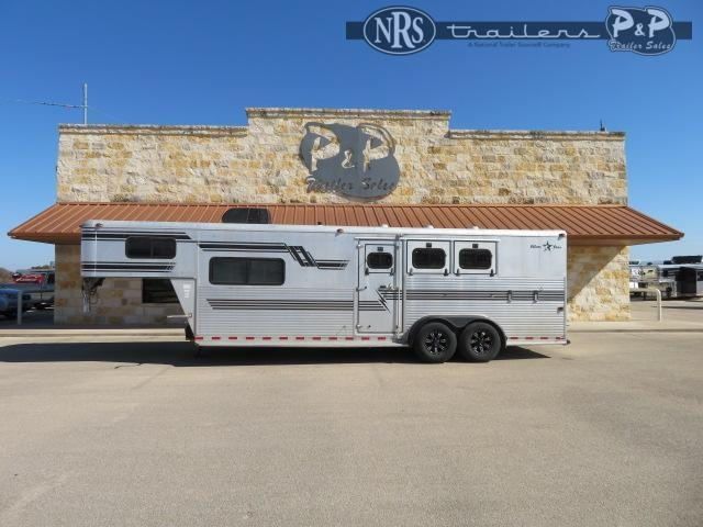 1998 Silver Star Trailers 3H 9SW 3 Horse Slant Load Trailer 9 FT LQ